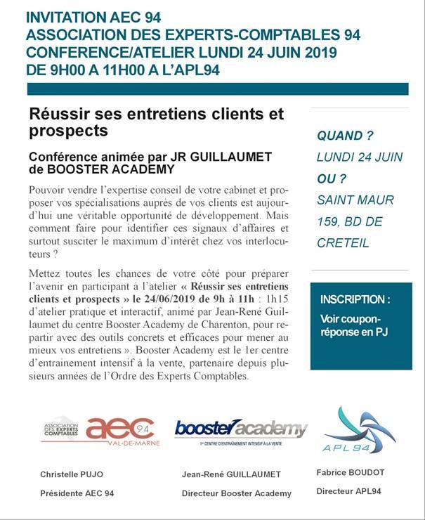 REUSSIR SES ENTRETIENS CLIENTS ET PROSPECTS le 24 juin 2019 9h-11h